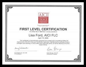 AICI FLC Certificate