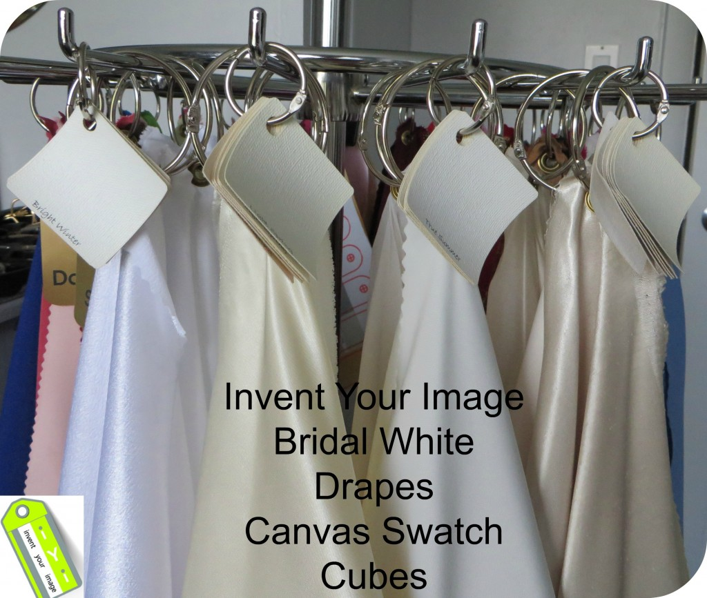 Invent Your Image Bridal Whites Drapes and Cubes
