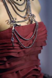 Marsala Strapless Gown