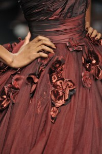 Marsala flower gown