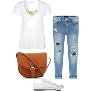 White Tee Outfit 3